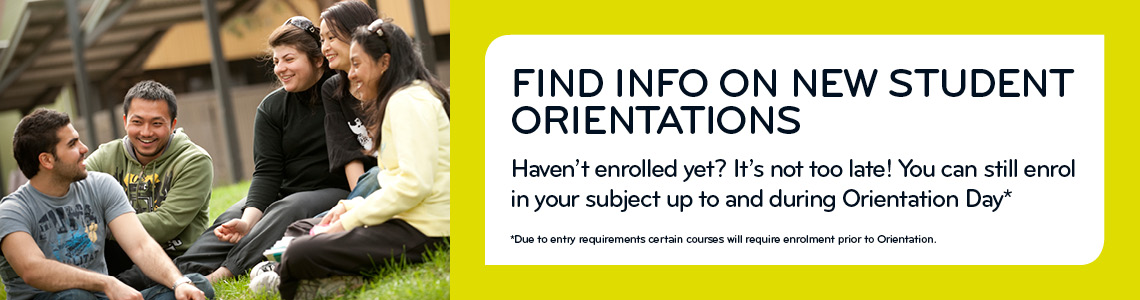 Find info on new student orientations